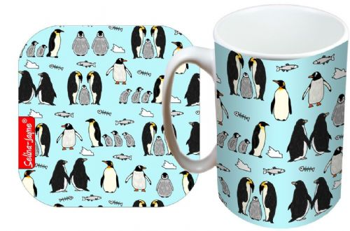 Selina-Jayne Penguins Limited Edition Designer Mug and Coaster Gift Set